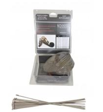 Pack ruban isolant échappement TITANIUM 50mm x 15 mètres avec 10 colliers 300mm