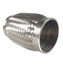 Flexible échappement inox 304L 77x152mm pour tube 76mm
