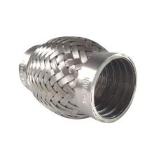 Flexible échappement inox 304L 49X102mm pour tube 48mm