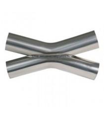 X-Pipe inox diamètres 55mm épaisseur 1.5mm longueur 370mm