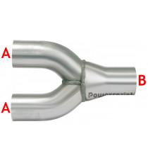 2 en 1 réducteur inox diamètres 50 à 70mm épaisseur 1.5mm longueur 240mm