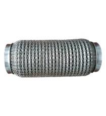 Flexible ondulé grillagé 304L femelle pour tube 60,3mm longueur 152mm