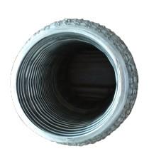 Flexible ondulé grillagé 304L femelle pour tube 70mm longueur 152mm