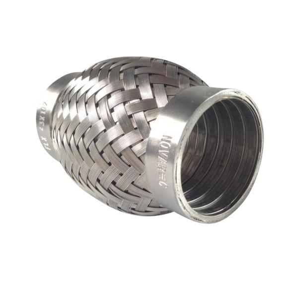 Flexible échappement inox 304L  43X102mm pour tube 42,4mm