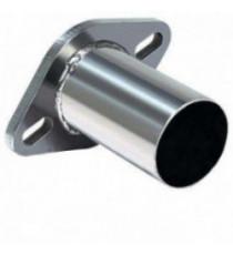 Bride avec tube inox 63.5mm, 2 passages de vis