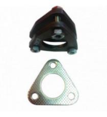 Kit 2 brides acier pour tube 48.3mm, 3 passages de vis avec visserie et joint