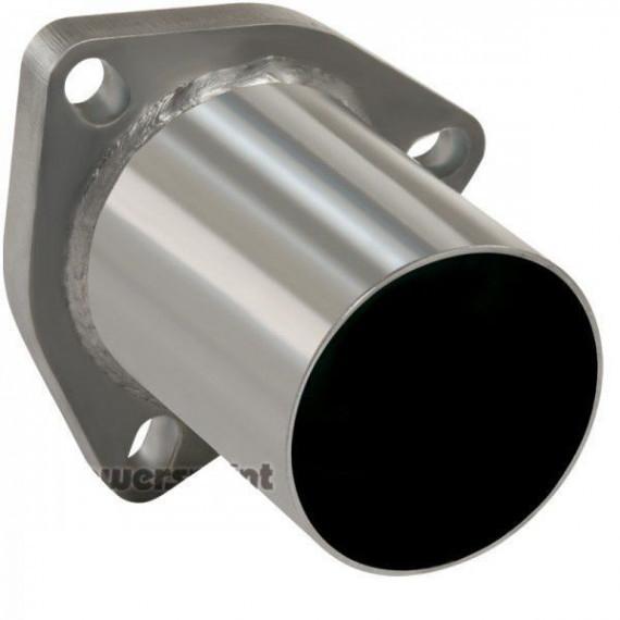 Bride avec tube inox 63,5mm, 3 passages de vis, longueur 100mm
