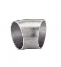 Coude inox 45° diamètre 33.7mm épaisseur 1.6mm
