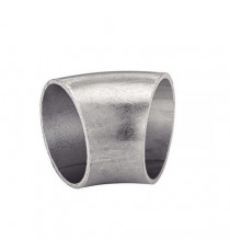 Coude inox 45° diamètre 76.1mm épaisseur 2mm