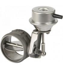 Valve d'échappement universelle inox diamètre 63.5mm à commande pneumatique