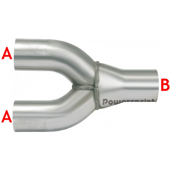 2 en 1 réducteur inox diamètres 60.3 à 70mm épaisseur 1.5mm longueur 240mm
