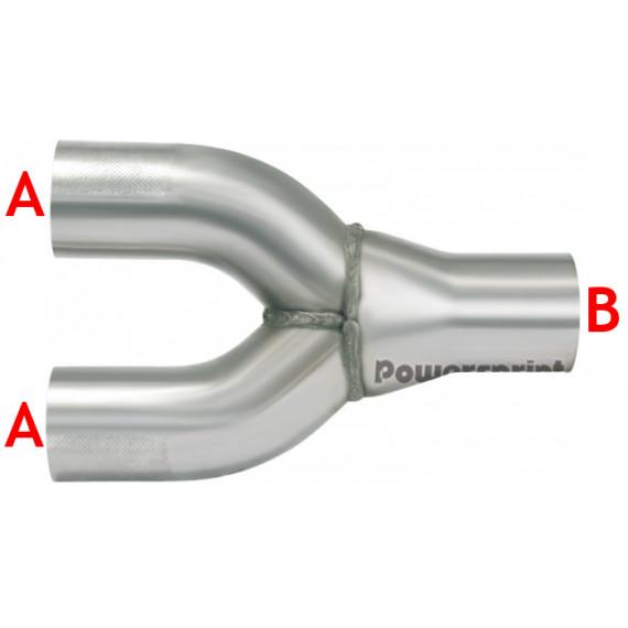 2 en 1 réducteur inox diamètres 60.3 à 76mm épaisseur 1.5mm longueur 240mm