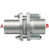 Compensateur inox pour tube 63.5mm, longueur 170mm