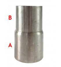 Réducteur inox 2 étages diamètre extérieurs 60, 65mm