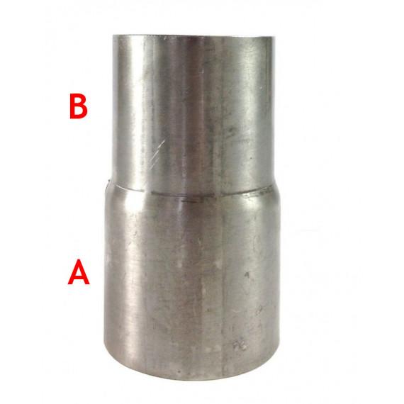 Réducteur femelle inox pour tube à emmancher 88.9, 76.1mm