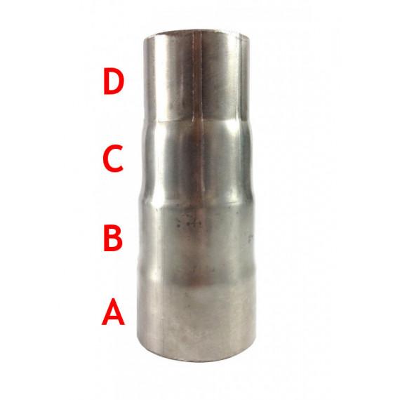 Réducteur femelle inox pour tube à emmancher 88.9, 76.1, 70, 65mm