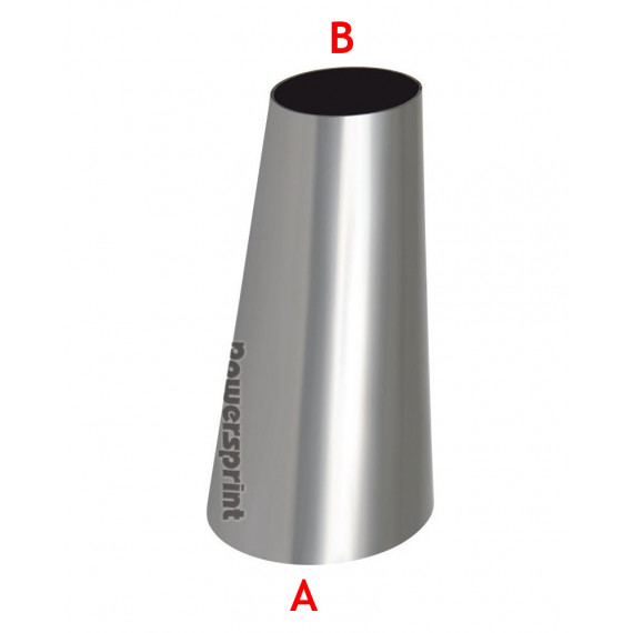 Réducteur conique non symétrique inox diamètres 42.4 à 33.7mm