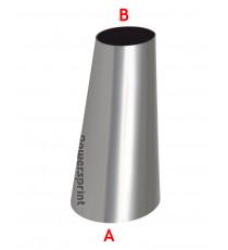 Réducteur conique non symétrique inox diamètres 48.3 à 33.7mm