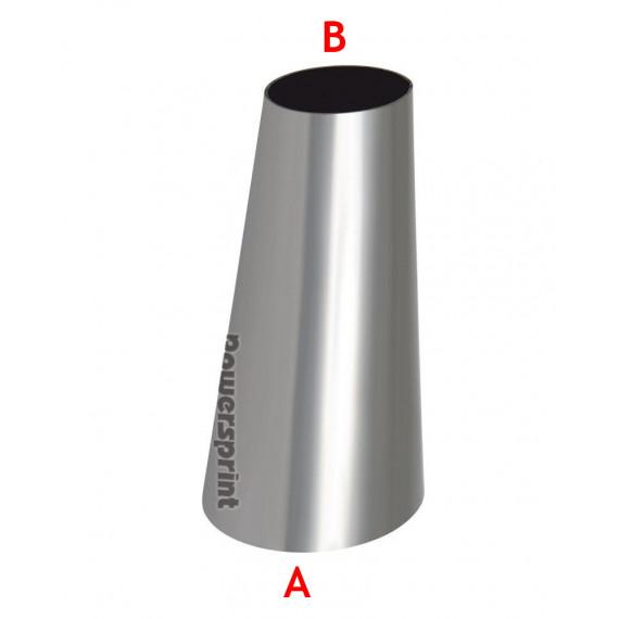 Réducteur conique non symétrique inox diamètres 101.6 à 60.3mm - longueur 100mm