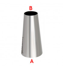 Réducteur conique symétrique inox diamètres 88.9 à 50mm - longueur 100mm