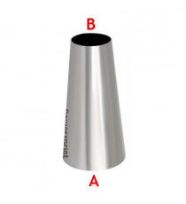 Réducteur conique symétrique inox diamètres 88.9 à 50mm - longueur 200mm