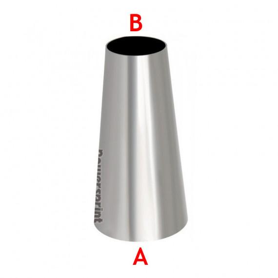 Réducteur conique symétrique inox diamètres 88.9 à 76.1mm