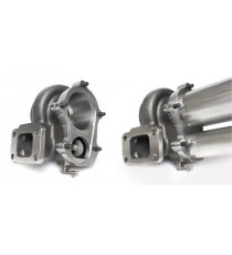 Bride descente acier GT 5 trous pour turbo GARRETT, pour tube 3